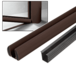 "CRL BR36KBRZ Bronze AWS 36"" Bottom Rail Kit with Rigid Glazing Vinyl"