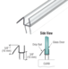 "CRL P912WS Clear Co-Extruded Bottom Wipe With Drip Rail for 1/2"" Glass"