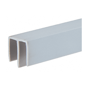 """CRL D716GRY Gray Plastic Upper Track for 3/16"""" Sliding Panels"""