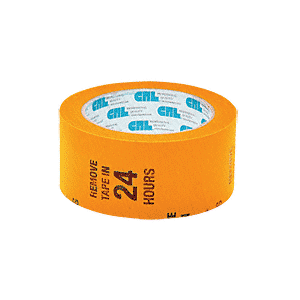 "CRL AFT2W Orange 2"" Air-Flow Molding Retention Tape - with Warning"