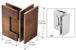 CRL-USALUM ALUM-V1E092ABC0-VCP-1 Antique Brushed Copper Vienna 092 Series 90 Degree Glass-to-Glass Hinge