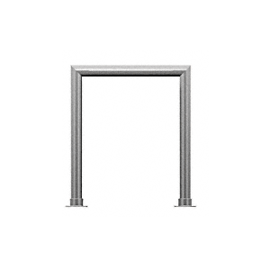 "CRL SG5145BS Brushed Stainless Elegant 145 Series 1-1/2"" Tubing Glass On Top and Front Only Sneeze Guard"