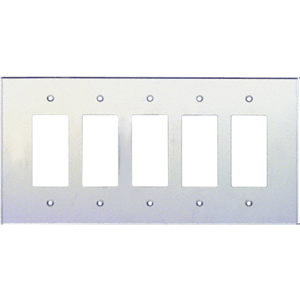 CRL PMP502 Clear Five Gang Designer Acrylic Mirror Plate