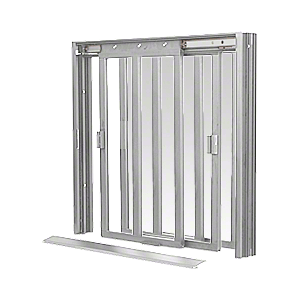 CRL DW4400A Satin Anodized DW Series Manual Deluxe Sliding Service Window XX with Screen