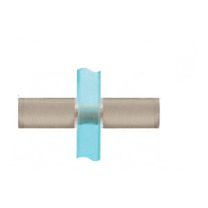 CRL SDKP112BN Brushed Nickel Cylinder Style Back-to-Back Shower Door Knobs With Plastic Sleeve