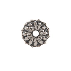 "CRL 8983 Antique Silver 3/4"" Floral Metal Mirror Rosette"
