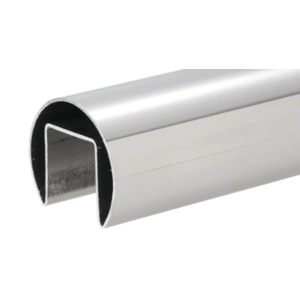 "CRL GRRF20PS Polished Stainless Steel 1-7/8"" Roll Form Cap Rail - 19'-8"""
