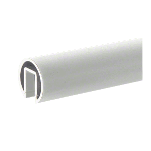 "CRL GR19M Mill Finish 1.9"" Extruded Aluminum Cap Rail for 1/2"" or 5/8"" Glass - 240"""