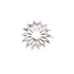 "CRL HB118-XCP100 CRL Clear 1-1/8"" Plastic Star Rosette - pack of 100"