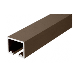 "CRL 0TTR240DU Black Bronze Anodized 240"" Length Top Track for OT Series Top Hung Sliders and Bi-Fold Doors"