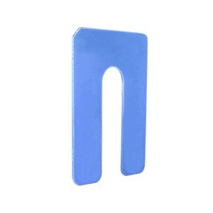 "CR Laurence PHS36-XCP100 CRL Blue 1/16"" x 4"" Jumbo Size Plastic Horseshoe Shims - pack of 100"