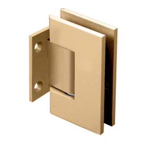 CRL GEN074SB Satin Brass Geneva 074 Series Wall Mount Short Back Plate Hinge
