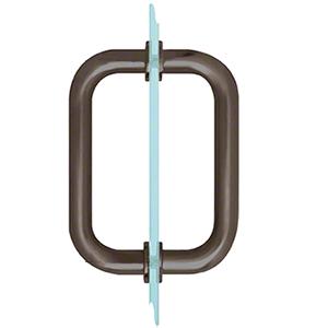 """CRL SDPR60RB Oil Rubbed Bronze 6"""" Tubular Back-to-Back 3/4"""" Diameter Shower Door Pull Handles"""
