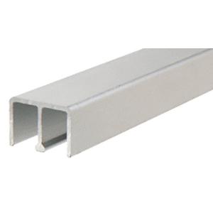 "CRL D618A Satin Anodized Aluminum Upper Track for 1/4"" Sliding Panels"