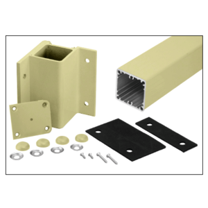 """Mill Aluminum 36"""" 200, 300, 350, and 400 Series 90 Degree Inside Fascia Mounted Post Kit"""
