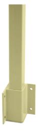 "CRL-USALUM ALUM-FP9136KCRM-VCP-1 Mill Aluminum 36"" 200, 300, 350, and 400 Series 90 Degree Inside Fascia Mounted Post Kit"