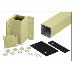 "Mill Aluminum 48"" 200, 300, 350, and 400 Series 90 Degree Inside Fascia Mounted Post Kit"