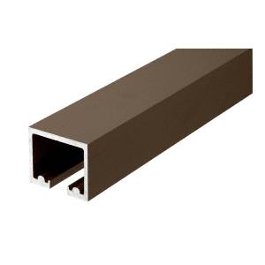 "CRL 0TTR120DU Black Bronze Anodized 120"" Length Top Track for OT Series Top Hung Sliders and Bi-Fold Doors"