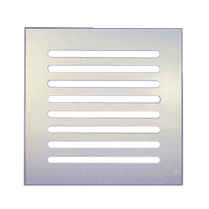 """Clear Flat Acrylic 10"""" x 10"""" Mirror Grille"""