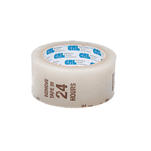 "CRL AFT2CW Clear 2"" Air-Flow Molding Retention Tape - With Warning"