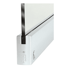 """CRL DR4SSA12SL Satin Anodized 1/2"""" Glass 4"""" Square Door Rail With Lock - 35-3/4"""" Length"""