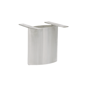 "CRL SCS6V Brushed Stainless Vertical 6"" Steel Support"