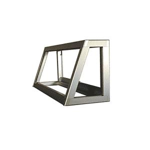 CRL D4350A Satin Anodized Custom Size Newport Slant Front Showcase Frame