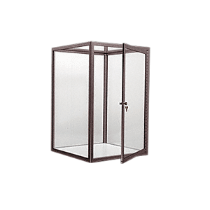 CRL D4040DU Dark Bronze Custom Size Avalon Showcase with Single Front Hinged Door