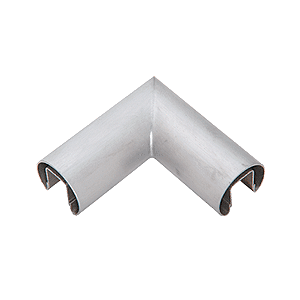 "CRL GR15HBS Brushed Stainless 1-1/2"" Diameter 90 Degree Horizontal Corner for 1/2"" or 5/8"" Glass Cap Railing"