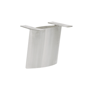 "CRL SCS6A Brushed Stainless Angled 6"" Steel Support"