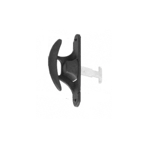 """CRL A215 Black Sliding Screen Door Latch and Pull with 3-1/2"""" Screw Holes"""