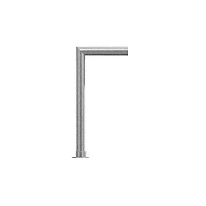 "CRL SG0139BS Brushed Stainless Elegant 139 Series 2"" Tubing Glass On Top and Front Only Sneeze Guard"