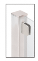 """CRL SA94FBS Brushed Stainless 1/4"""" Top Flat Base Glass Clip"""