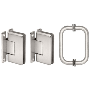 CRL C0LS3CH Polished Chrome Cologne 037 Hinge and Shower Pull Handle Set
