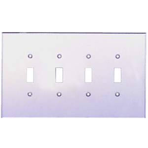 CRL PMP401 Clear Quad Toggle Acrylic Mirror Plate