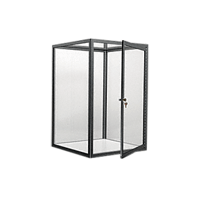 CRL D4041FBL Flat Black Custom Size Avalon Showcase with Hinged Door on One End