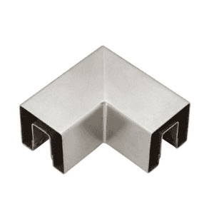 "CRL GRS15HBS Brushed Stainless 90 Degree Horizontal Corner for 1-1/2"" Square Glass Cap Railing"
