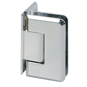 CRL C0L044CH Polished Chrome Cologne 044 Series Wall Mount Offset Back Plate Hinge