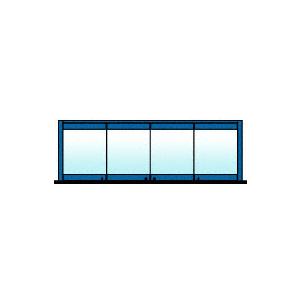 CRL 0TB4BPPT Custom Color 4-Panel Bipart Overhead Track Full Bi-Fold Door Configuration