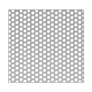 "CRL PN1814SPC Custom Perforated Infill Panel - 1/4"" Round Straight Holes"