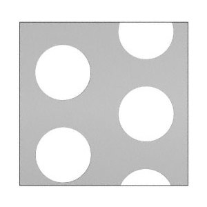 "CRL PN182PC Custom Perforated Infill Panel - 2"" Round Holes"