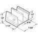 """CRL M6111 1-5/8"""" Wide Tub Enclosure Sliding Door Bottom Guide for Sterling"""