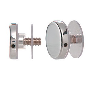 """CRL CAP112PS 316 Polished Stainless 1-1/2"""" Diameter Standoff Round Cap Assembly"""