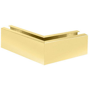 "CRL B7W135SB Satin Brass 12"" 135 Mitered Corner Cladding for B7S and W7B Base Shoe"