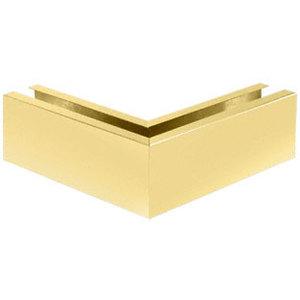 "CRL B7W90SB Satin Brass 12"" 90 Mitered Corner Cladding for B7 Base Shoe"
