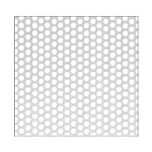 """CRL PN1814SPA Aluminum Mill Perforated Infill Panel - 1/4"""" Round Straight Holes"""