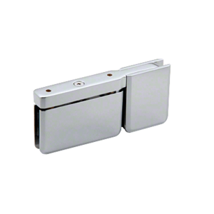 Satin Chrome Top or Bottom Mount Prima Pivot Hinge with Attached U-Clamp