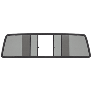 CRL TSW100S Duo-Vent Four Panel Slider with Solar Glass for 1967-1972 Large Window GMC/Chevy Truck