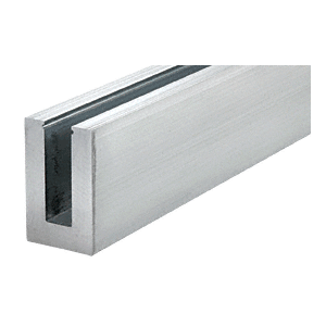 """CRL B5S20D6 Mill Aluminum 240"""" B5S Series Standard Square Base Shoe Drilled with 9/16"""" Hole Size"""