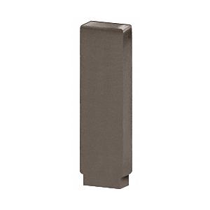 Dark Bronze Anodized Decorative Flat End Caps for 638 Series Aluminum Cap Railings